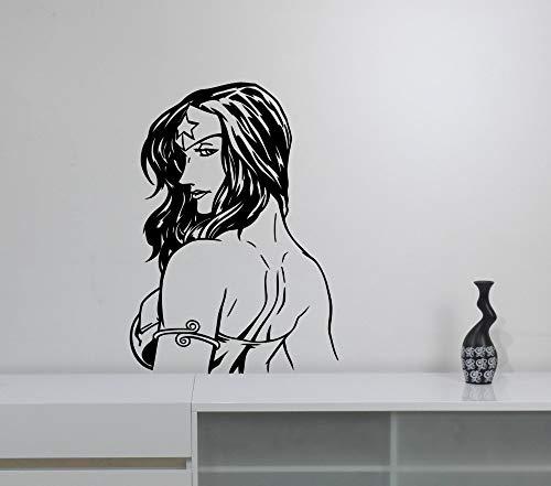 Superheld Frau Wandtattoo Cool Wonder Girls Marvel Comics Wandaufkleber Für Kinderzimmer Jugendliche Schlafzimmer Interior Decor Wandbild
