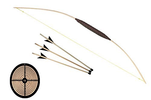 120cm Bogen + Pfropfen Pfeile + Zielscheibe Rund