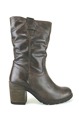 scarpe donna KEYS stivaletti marrone pelle AJ123 (41)