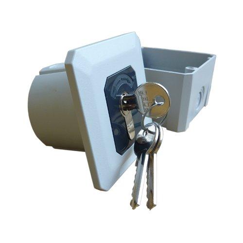 Rolladenschalter Schlüsselschalter AP/UP mit Tast- und Rastfunktion variable Aufputz / Unterputz