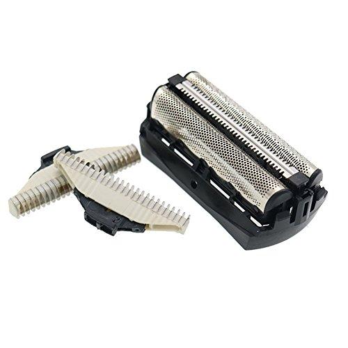 YanBan Scherkopf passend für Philips Bodygroom Rasierer QC5550 QC5580, 1pcs Ersatz Scherfolie und 2pcs Rasierer Cutter