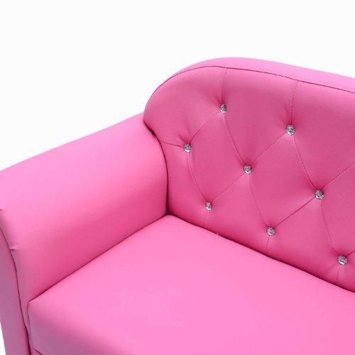 Homcom divano per bambine a 2 posti i in ecopelle rosa - Divano letto 2 posti amazon ...