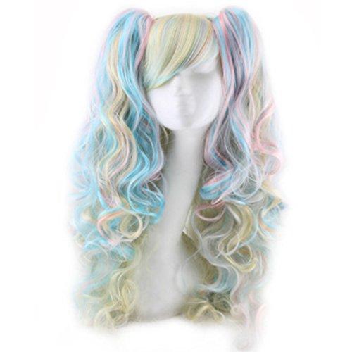 CJJC- Lolita Perücken Mode Hitzebeständige Frauen Lange Lockige Multi Haar Perücke Für Cosplay/Kostüm/Halloween Party,White