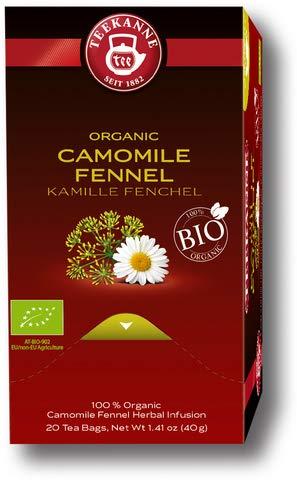 TEEKANNE Kräutertee Bio Kamille-Fenchel, Beutel aromaversiegelt, 20 x 2 g (20 Stück), Sie erhalten 1 Packung á 20 Stück