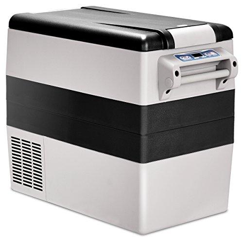 GOPLUS Autokühlschrank, Elektrisch Kompressor-Kühlbox mit 52L Fassungsvermögen mit LCD-Anzeige, Tragbarer Gefrierschrank mit Schneller Abkühlung Kühlbereich von -20 °C bis 10 °C, für Auto LKW Boot