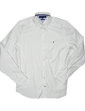 Tommy Hilfiger Langarm Hemd - Slim Fit - Weiß - Größe L
