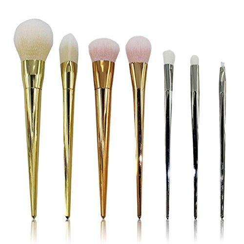 Vococal® 7 Pcs Brosse Outil Sourcil Set Ombre Brosse Cosmétiques Fondation Anticernes Pinceau de Maquillage