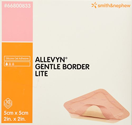 Smith & Nephew Foam Dressing Allevyn Gentle Border Lite 2 X 2 Inch Square Adhesive Sterile (#66800833, Sold Per Piece) by Smith & Nephew -