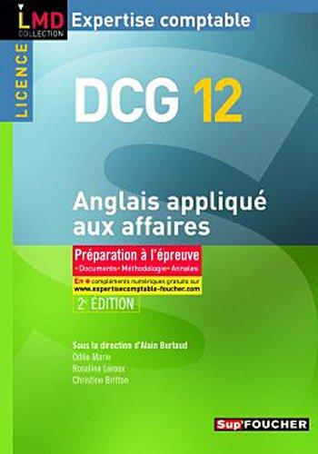 DCG 12 - Anglais appliqué aux affaires par Christine Britton
