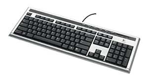 Logitech UltraX Premium Keyboard Clavier USB OEM Azerty Argent