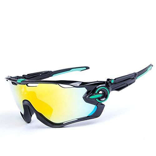 CHENHUI Brille 5 Objektiv Herren Polarisierte Fahrrad Sonnenbrille UV400 Rennrad Brillen Sport MTB Fahrrad Sonnenbrille Angeln Skifahren Laufbrille @ B_G_BG