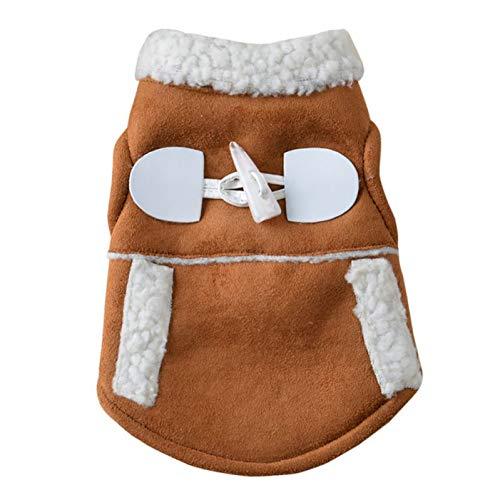 FIRECW Abbigliamento per Cani Abbigliamento per Cani da Compagnia Giacche Invernali Completo Caldo Gilet in Pile Velluto Piccolo Cane Moto Gilet Cappotto Abbigliamento Cappotti Forniture Animali Dome