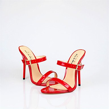 zhENfu Donna talloni 13cm Altezza tacco Sexy Round Toe Stiletto Heel sandali scarpe di partito Ruby