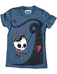 Akumu Ink - T-shirt - Manches Courtes - Femme bleu bleu taille unique