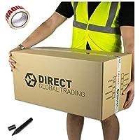 10solide Extra long Grande de rangement Carton d'emballage Boîtes de déménagement à double paroi avec l'espace Liste 76cm x 36.5cm x 38cm