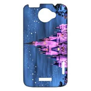 Welcome! The Disney Castle Beautiful Colorful Cartoon Castle Durable Hard PlasticCover Case (HD Image) For HTC one x