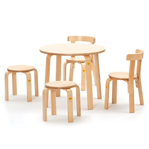 Erzi Sitzgruppe 52/2 Formholz Kinder Stuhl Tisch Therapie Sitzen Hocker Holz
