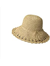 LF Sombrero de Paja Tejido a Mano Summer Sunhat (Color : Beige)