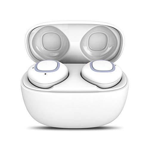 OPAKY Mini echte drahtlose Zwillinge Bluetooth Ohrhörer In-Ear-Stereo-Ohrhörer Sport-Headset,für iPhone, iPad, Samsung, Huawei,Tablet usw.