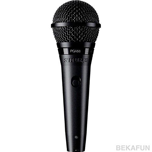 Shure PGA58-XLR Microfono Professionale Cardioide Con Switch ON/OFF Cavo e Custodia Per Contenimento/Trasporto