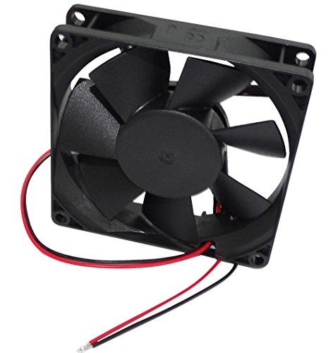 AERZETIX: Ventilateur pour boîtier d'ordinateur PC 12V 80x80x20mm 49.27m3/h 30dBA 2600rpm 24AWG C16218