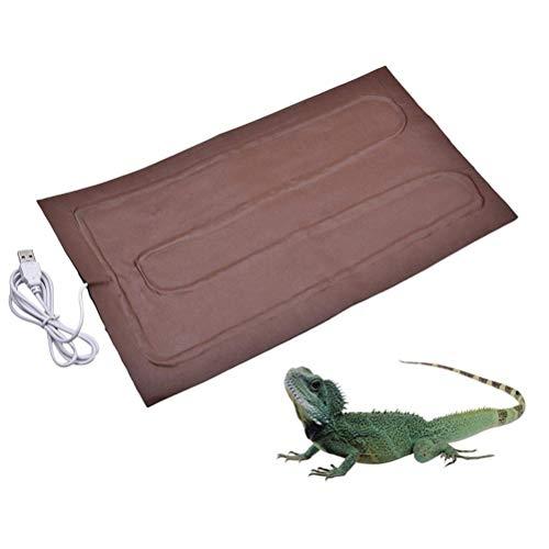 Sarplle Estera de Calentamiento de Reptiles Estera de Calentamiento de Invernadero Interior Reptil Dragón...