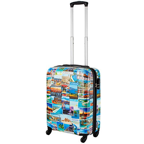 Cabin Max Icon 2.0 Valise trolley cabine 4 roues Abs rigide 55 x 40 x 20 cm (Cartes postales)