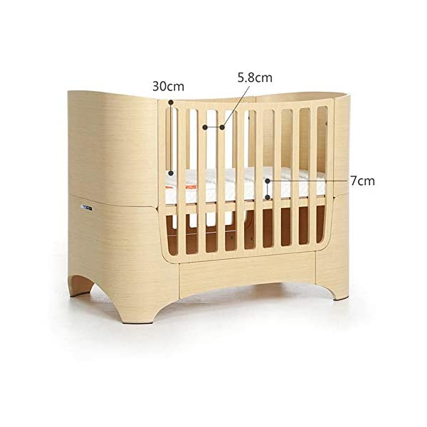 VBARV 4-in-1 baby cot, height adjustable children's play cot, multifunctional 0-12 year-old changing bed, fixed side cot, solid pine structure Children's bedroom furniture VBARV Easy-to-use design: Convertible cribs on the fixed side make it easy to convert a crib from a crib to a toddler / day bed or even an entire bed! This versatile crib will provide your child with a comfortable place to sleep from infancy to adolescence. Adjustable Mattress Height: The convertible crib has 3 adjustable mattress heights to keep your baby safely and comfortably in bed until the adult grows up. This convertible adjustable bed will make your life unforgettable. 3