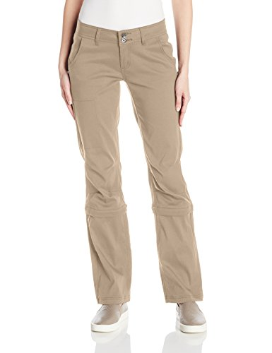 prAna Women's Regular Halle Convertible Pants, 10, Dark Khaki - Prana Convertible Pants
