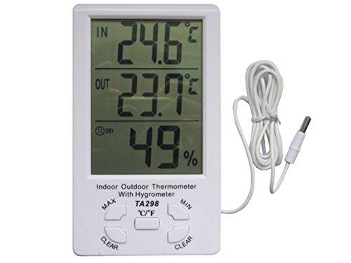 LCD Digital Wecker Temperatur und Feuchtigkeitsmessgerät TA298