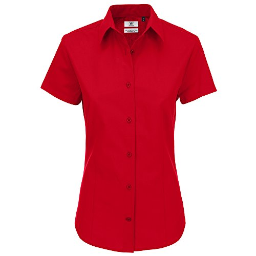 B&C Collection Heritage short sleeve /women Deep Red