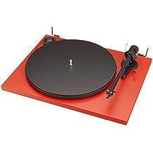 Pro-Ject Essential II Belt-drive audio turntable Negro, Rojo - Tocadiscos (4,5 W, Negro, Rojo, 4 kg, 420 x 330 x 112 mm)