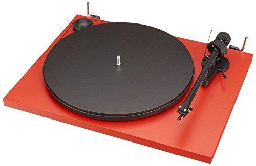 Pro-Ject Essential II - Tocadiscos (Tocadiscos de tracción por correa, Negro, Rojo, 33,45 RPM, 8 g, 21,9 cm, 4,5 W)