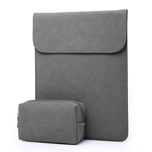 HYZUO Wildledern 13-13,3 Zoll Wasserdicht Hülle Notebook Tasche Laptoptasche für 13.3