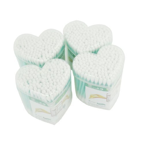 4-packs-heart-shaped-box-double-ends-makeup-cotton-buds-swabs-swab-light-green