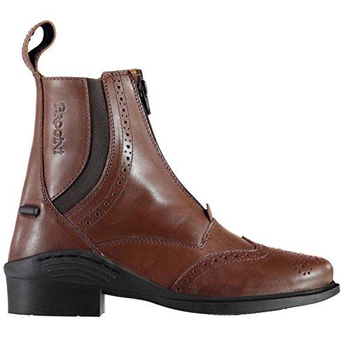 Brogini Damen Epsom Reitstiefeletten Reitsport Stiefeletten Boots Reitschuhe Tan 4 (37)