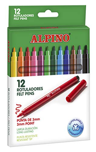 Alpino AR001002 - Pack de 12 rotuladores, colores surtidos