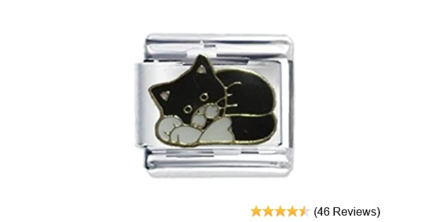 Cute Black Cat - Daisy Charm by JSC Italian Charms Fits Nomination Classic Bracelet