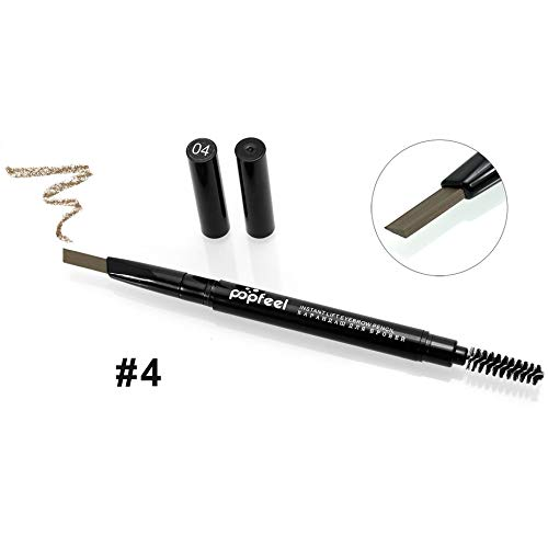 Double Head Eyebrow Pencil Rotation Wasserdicht Sweatproof Langlebig Leicht mit Pinsel zu tragen...