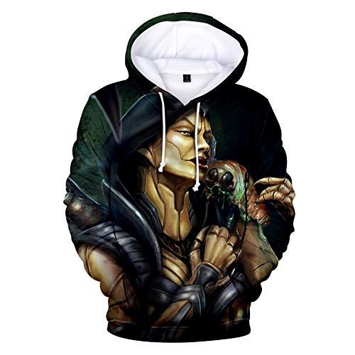 Hoodie mit Kapuze Pullover Unisex, Straße Cosplay Mortal Kombat 11 Neue Strickjacke echte Person schnell 11 Kapuzenjacke Frühling ()