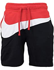 Nike M NSW Hbr Ft Stmt, Pantaloncini Corti Uomo, White/University Red/Black, XL