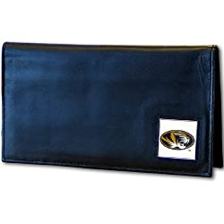 NCAA Missouri Tigers Leather Checkbook Cover