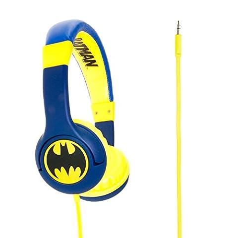 Batman DC0261 The Caped Crusader Casque Audio Supra-Auriculaire Junior Compatible avec Smartphones/ Tablettes/ Appareils MP3 - Bleu