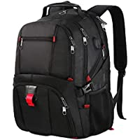 Laptop Backpack,Large Capacity Business Travel Laptop Backpack With USB Charging Port,Water Resistant Large Compartment Computer Rucksack Bag Fit 17.3 Laptop and Notebook For School,Office,University,College,Campus,Laptop Rucksack For Men Women Ladies,Fits HP/Dell/Asus/Acer Laptop,Black