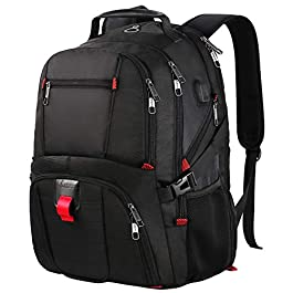 17 Pollici Zaino Laptop Backpack Men, Zaino Scuola Zaino Zaino Daypack, Business Notebook Borse Impermeabile Grande con…