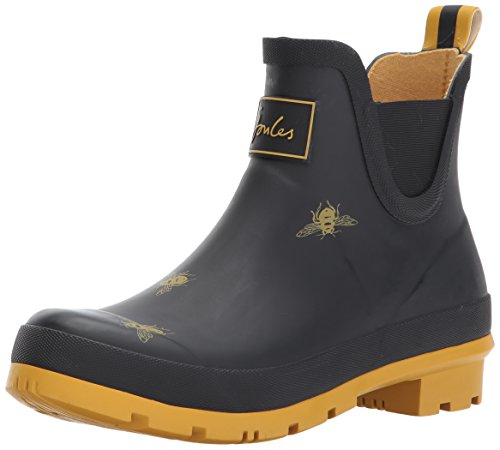 Joules Women's Wellibob Wellington Boots, Black (Black Bee), 6 UK 39 EU