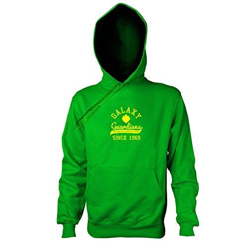 TEXLAB - Guardians College - Herren Kapuzenpullover, Größe XXL, grün (Star Lord Kostüm Hoodie)