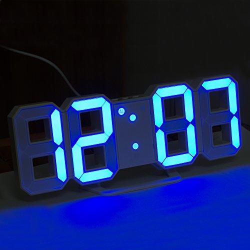 Sveglia a LED con 3 luminosità regolabile sveglia,Timorn sveglia led blu orologio da tavolo, sveglia LED blu, orologio da parete led