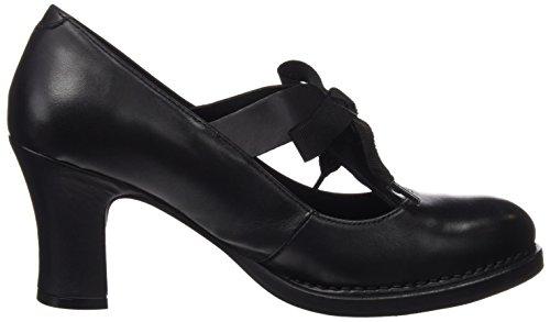 Neosens S296 Restored Skin Ebony Baladi, Chaussures à Talon avec Bout Fermé Femme Noir (Ebony)