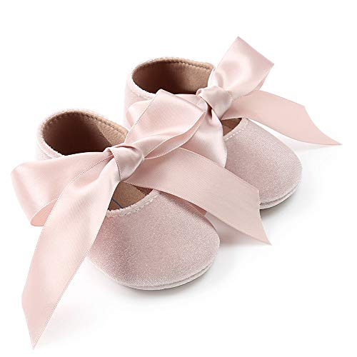 Zapatos de bebé, niña Princesa terciopelo bowknot niño primer caminantes zapato 0-18 meses 0-6 meses...